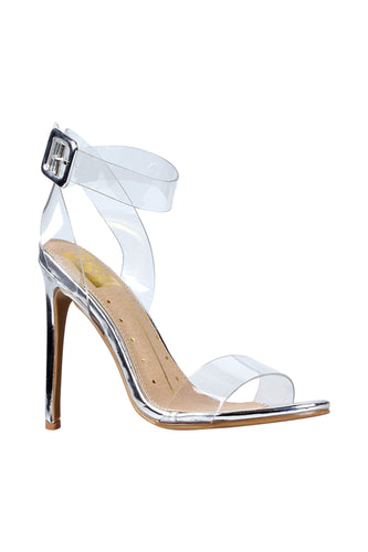 Stiletto Heel Clear Strap H.he