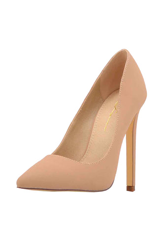 Suede Stiletto Heel Basic Pums
