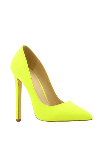 Suede Stiletto Heel Basic Pump