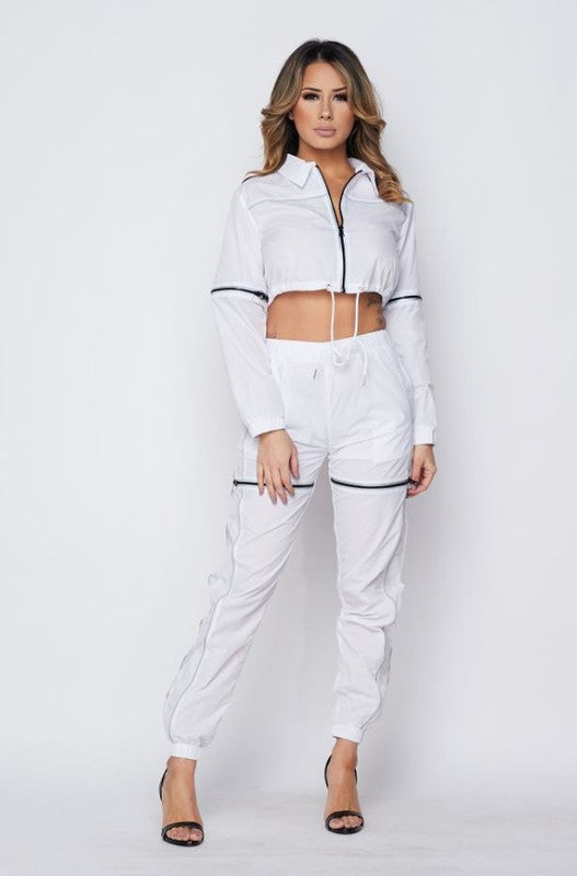 L/s Crop Jacket/pants Set