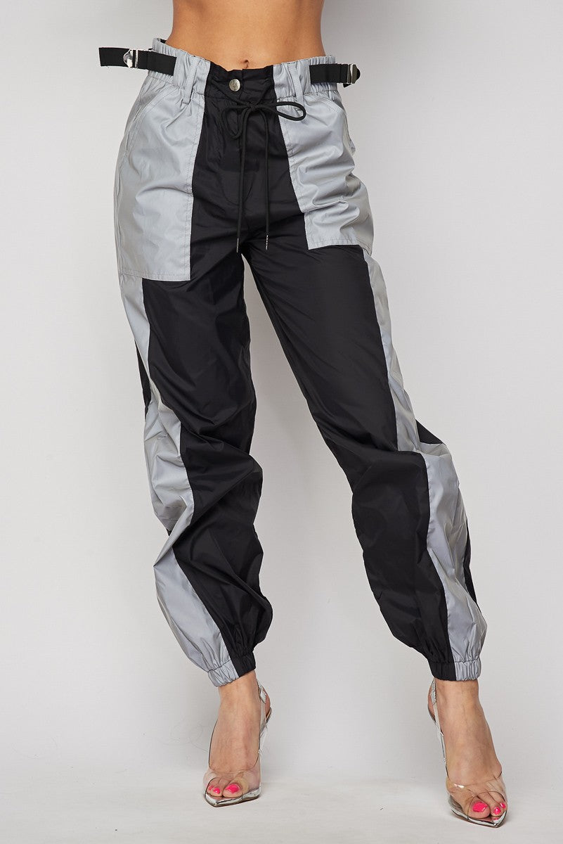 Side Pckt Belt Loose Pants