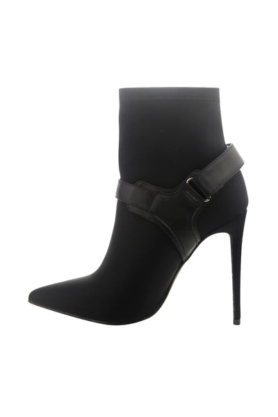 Pointy Toe Buckle Stiletto Boo
