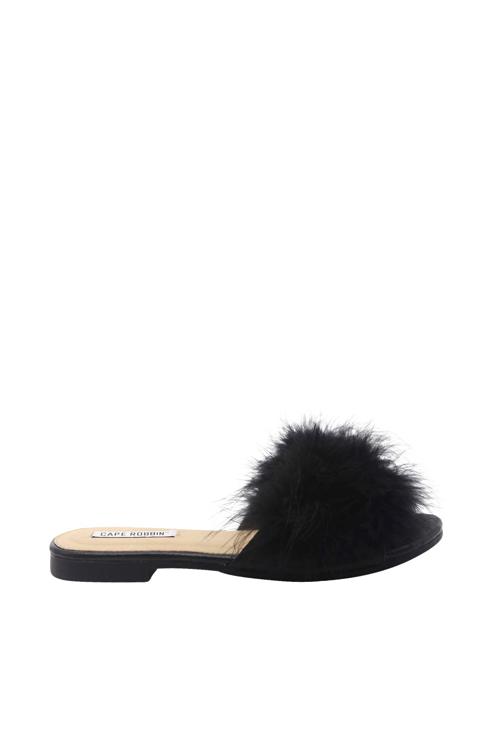 Fur Front Slide On Sandal