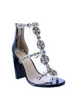 Load image into Gallery viewer, Chunky Heel W/big R.stone Trim