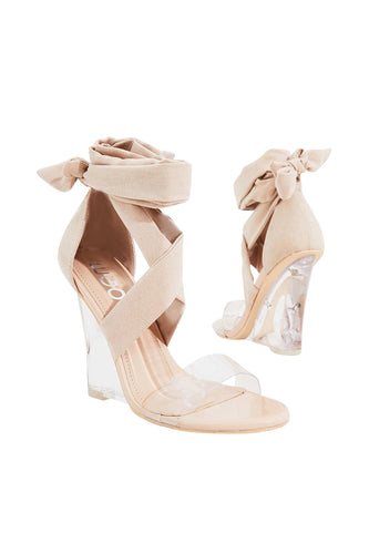 Clear Wedge Heel Wrap Around S