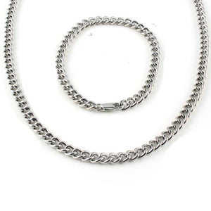 matching silver bracelet and chain