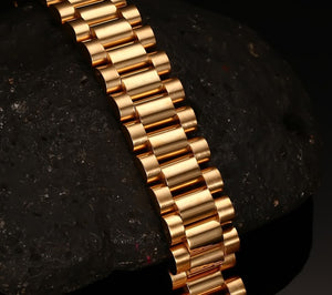 15mm 3 Row Gold Bracelet