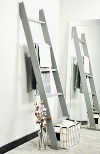 Lucus Weathered Rustic Gray Wood Ladder (6 ft)