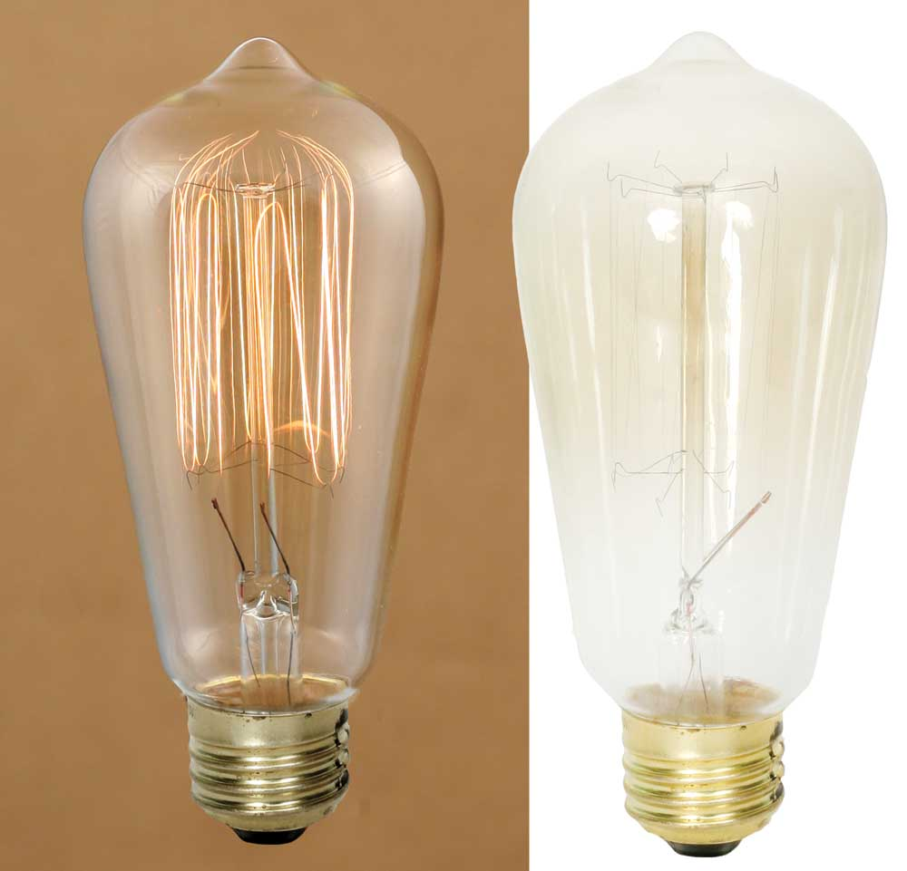 Large 40 Watt Vintage Bulb for rustic interior lighting