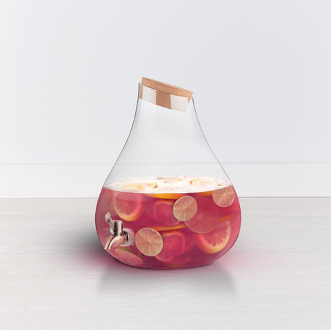 2 gallon glass beverage dispenser