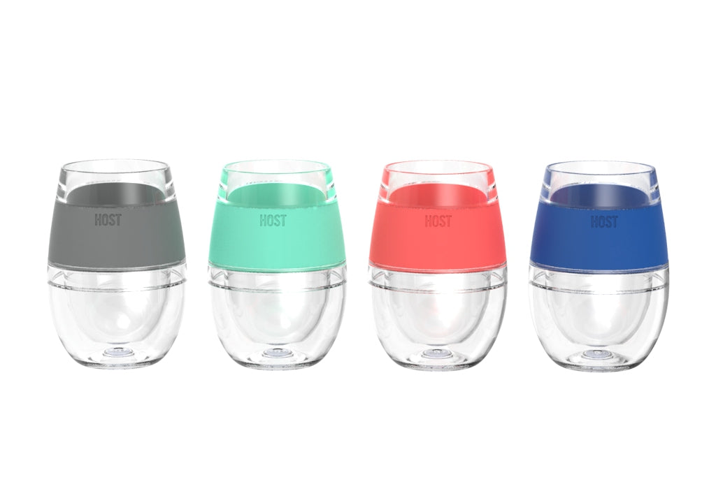 Set of 4 host wine FREEZE cooling cups: Enjoy with friends & family