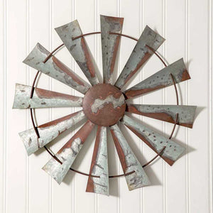 Rustic, metal windmill wall art for any room in your home