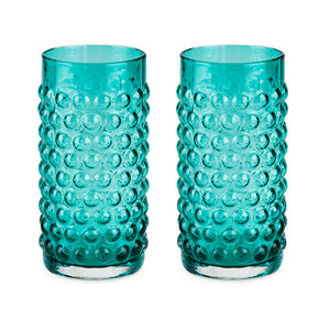 Freshwater lake blue hobnail glassware