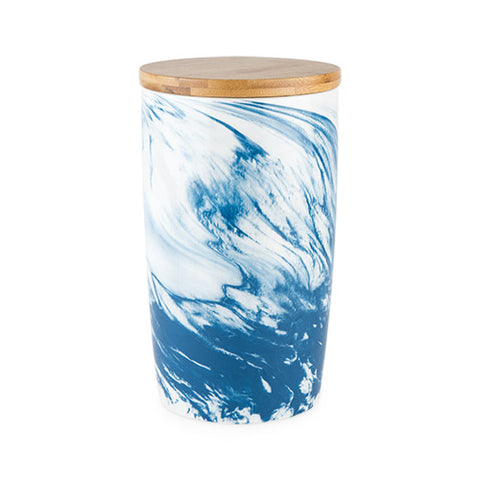 Medium Marbled Ceramic Canister