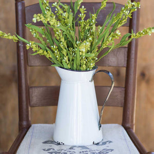 Farmhouse white pitcher vase