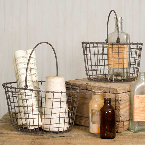 farmhouse rustic nesting baskets for storage