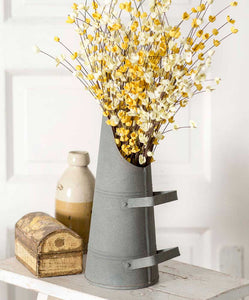 antique coal bin - a rustic vase for flowers