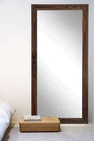 Rustic espresso full length mirror for your bedroom