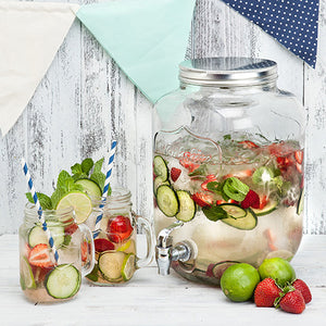 Mason jar farmhouse drink dispenser