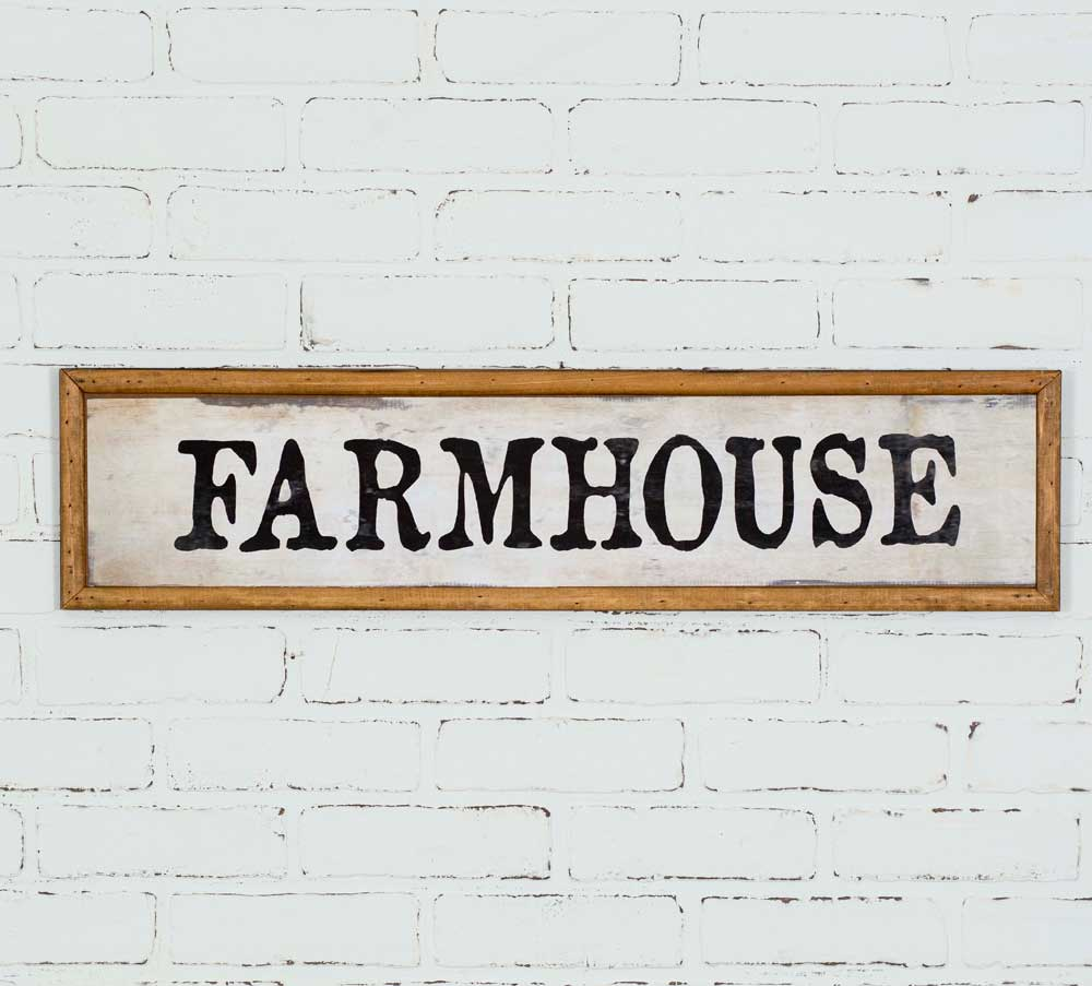 classic retro style farmhouse wood wall sign