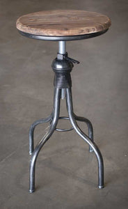 wood seat bar stool with adjustable height