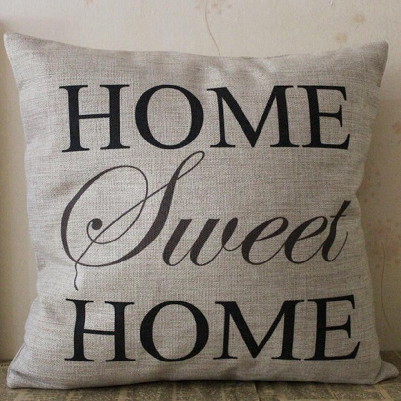 Home Sweet Home Cotton Pillow Cover