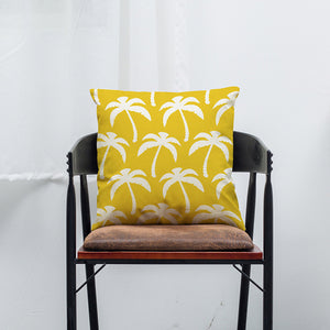 Yellow Cotton Throw Pillow Cover
