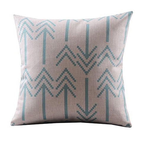 Arrows Cotton Linen Decorative Pillowcase