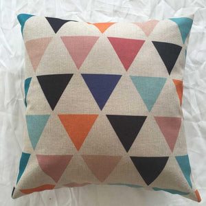 Multi-colored Geometric Throw Pillow Cover