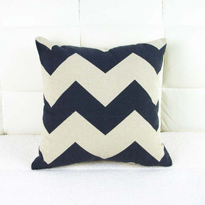 Black Chevron Stripe Pillow Cover Case