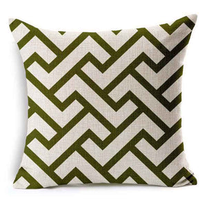 Fashion Geometry Cotton Linen Pillow Case