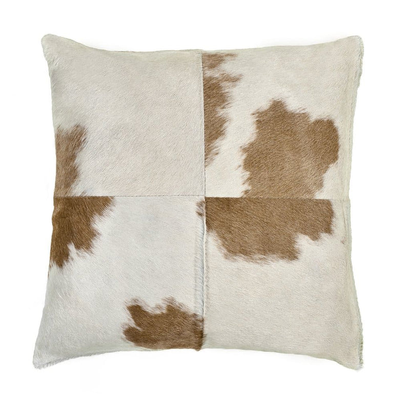 Saddlemans Beige White Special Cowhide Pillow
