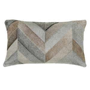 Saddlemans Chevron Gris Mix Pillow