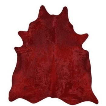 Saddlemans Dark Red Solid Dyed Hide