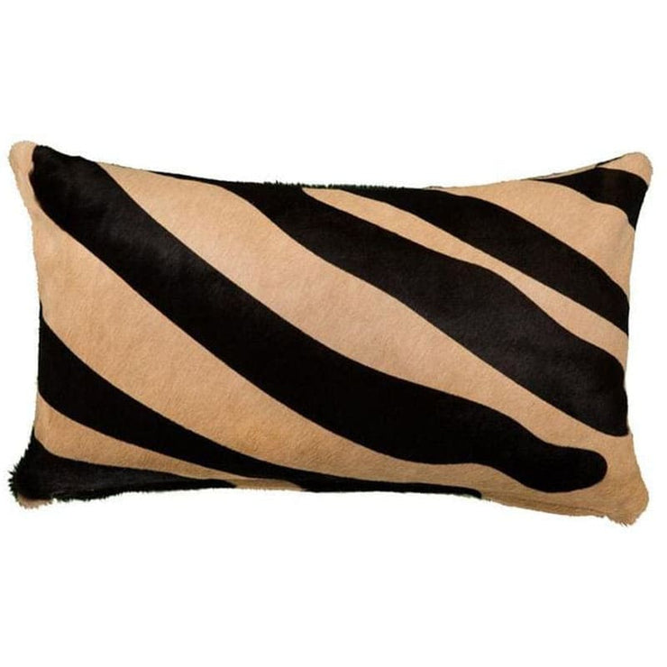 Saddlemans Zebra Black On Beige Pillow