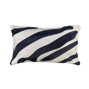 Saddlemans Zebra Black On Off White Pillow