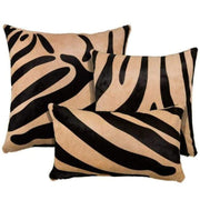 Saddlemans Zebra Black On Beige Pillows
