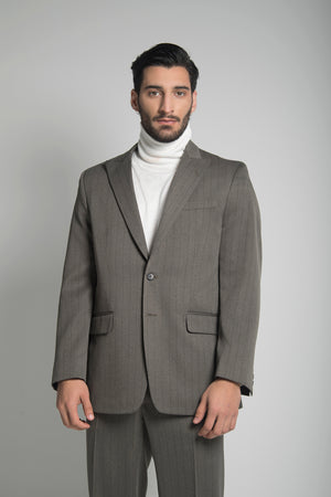 SINGLE BREASTED SUIT IN RAW UMBER