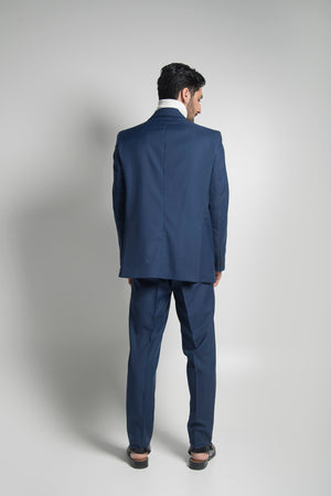 SINGLE BREASTED SUIT IN NAVY