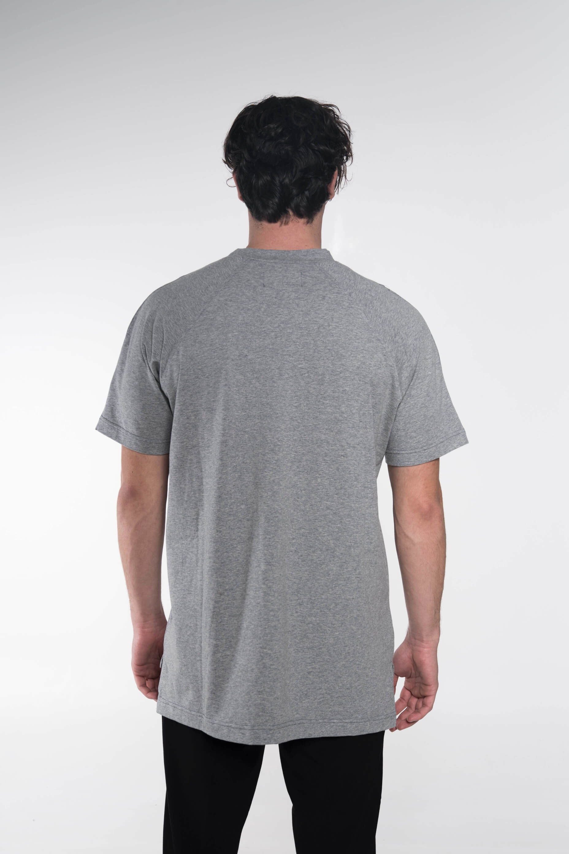 Collar logo t-shirt grey