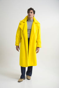 OVERSIZED COAT (ONE SIZE) YELLOW