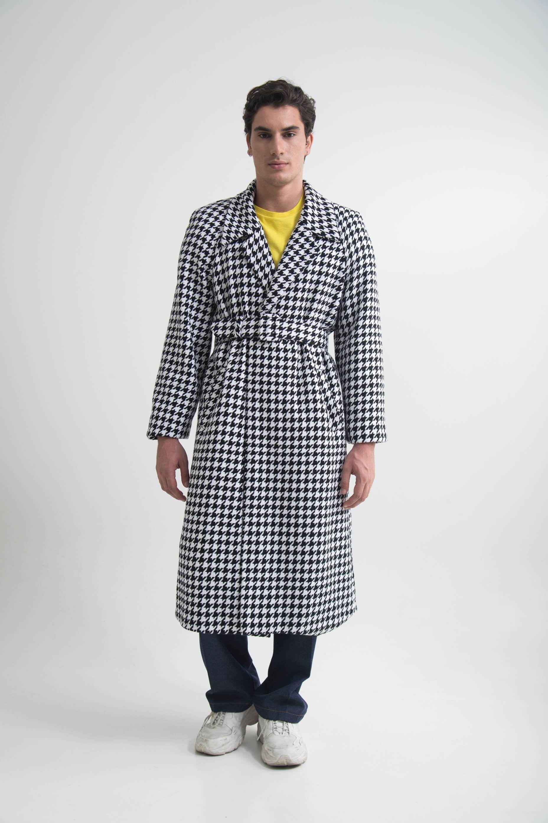 OVERSIZED COAT (ONE SIZE) CHECKED