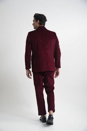 SINGLE BREASTED SUIT BURGUNDY