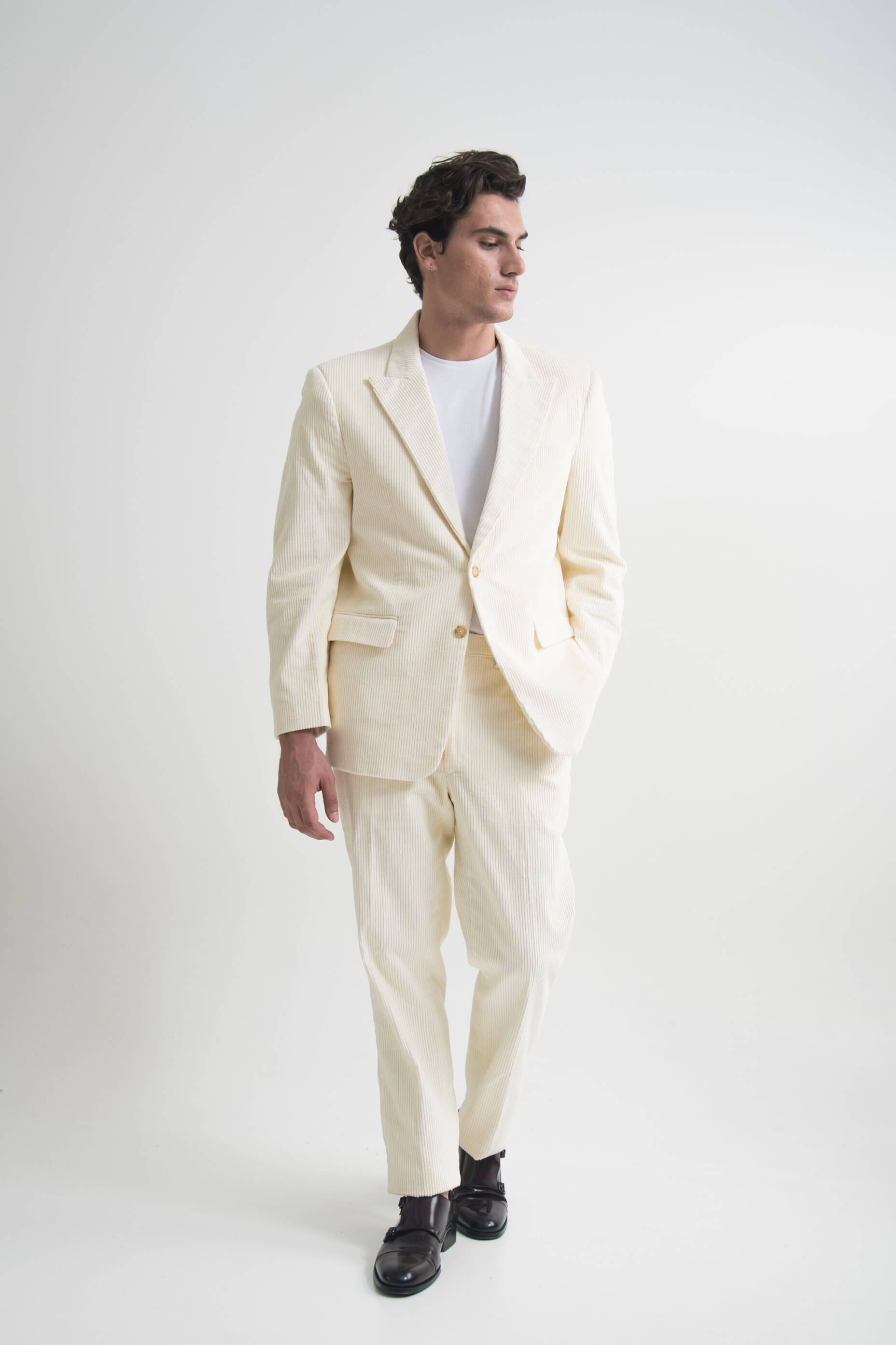 SINGLE BREASTED SUIT OFF WHITE