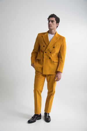 DOUBLE BREASTED SUIT MUSTARD
