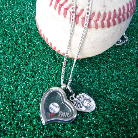 Heart Floating Charm Necklace