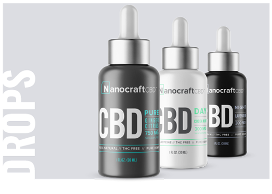 NanoCraft Oil Drops: Enjoy high quality, pure cannabidiol drops powered by the latest technology in nano absorption. Make every drop count with our unique delivery method, specifically designed to help your body absorb and utilize the nutrients you need. When you're ready for that extra edge, our Day and Night formulas are enhanced with synergistic compounds to supercharge your mornings and calm your evenings.