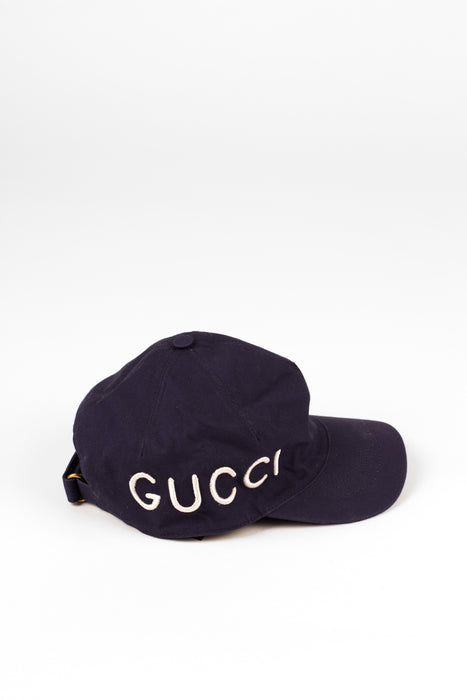 Gucci Blue Embroidered Baseball Hat