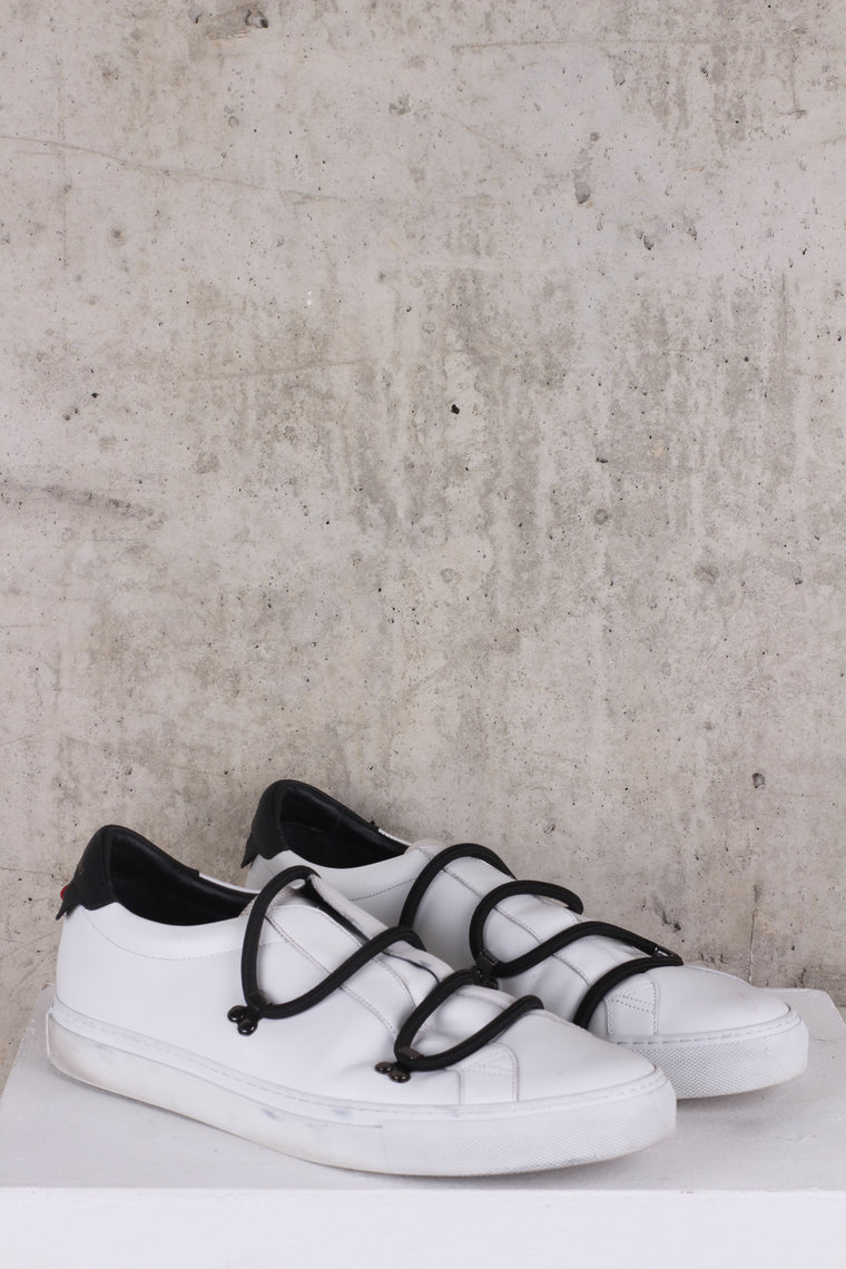 Givenchy Urban Hike  Sneakers With Elastic Laces in White-Black - EU 45 UK 11