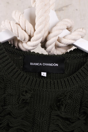 Bianca Chandon Green Wool Sweater - Size Large